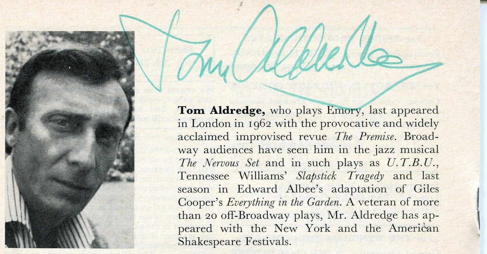 tom aldredge hugh deangelis