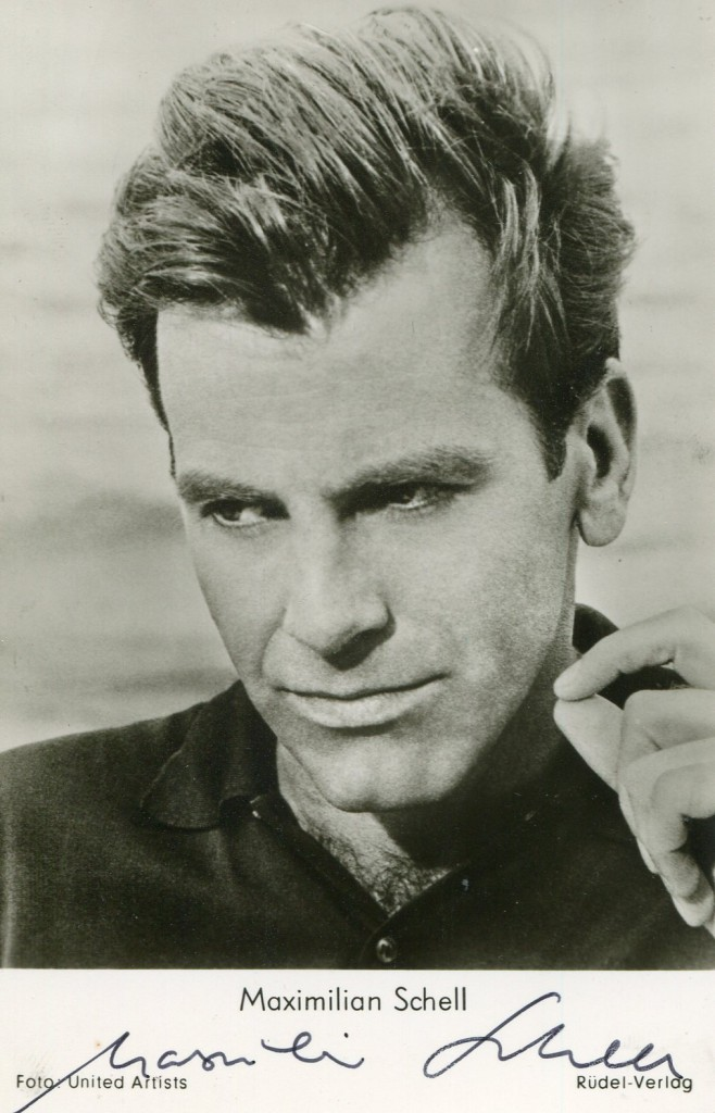 Maximilian Schell Movies Autographed Portraits Through The Decades