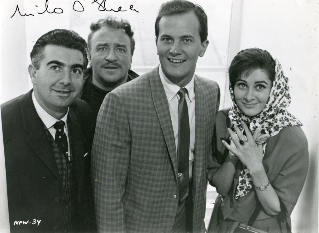 Milo O'Shea with Reginald Beckwith, Pat Boone and Fidelma Murphy