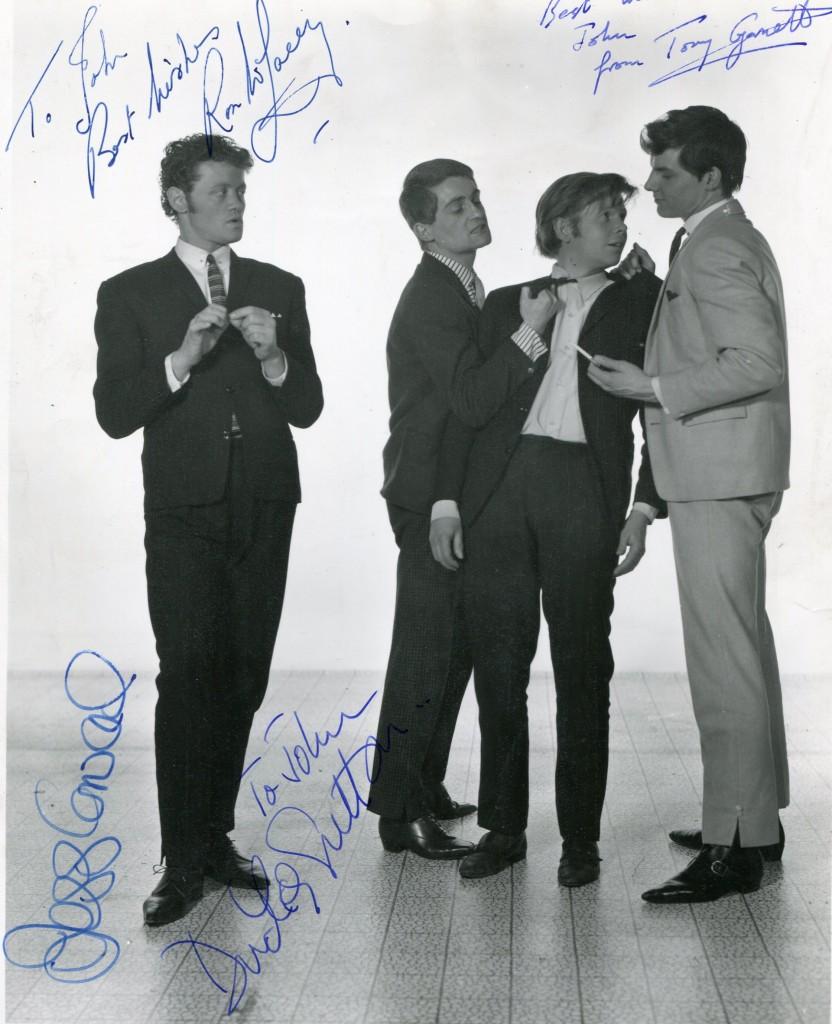 Dudley Sutton, Tony Garnett, Ronald Lacey and Jess Conrad